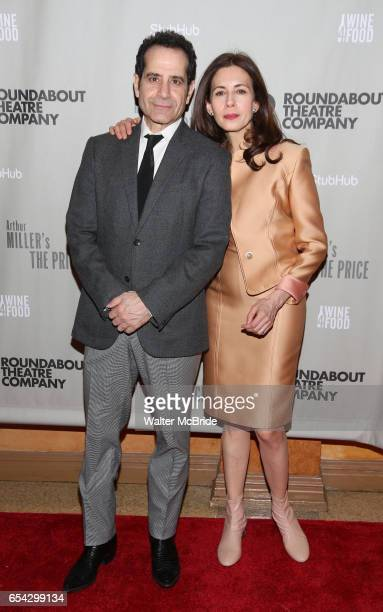 Jessica Hecht and Tony Shalhoub attend the Broadway Opening Night performance After Party for the Roundabout Theatre Production of 'The Price' at the...