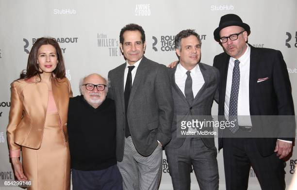 Jessica Hecht Danny DeVito Tony Shalhoub Mark Ruffalo and Terry Kinney attends the Broadway Opening Night performance After Party for the Roundabout...