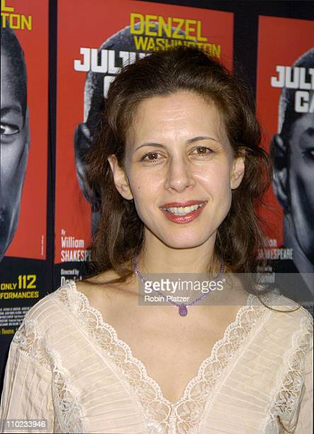 Jessica Hecht during The Broadway Opening of 'Julius Caesar' starring Denzel Washington April 3 2005 at The Belasco Theatre and Gotham Hall in New...