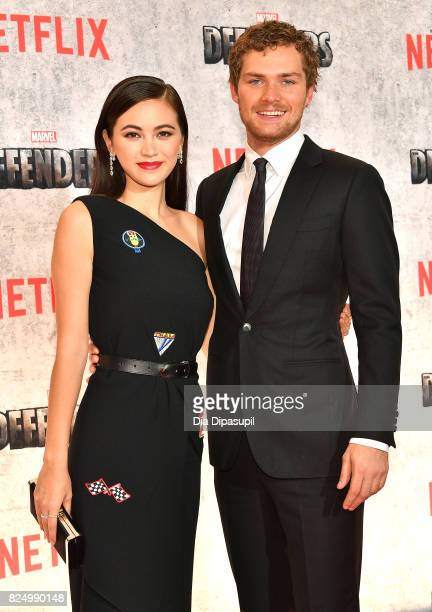 Jessica Henwick and Finn Jones attend the 'Marvel's The Defenders' New York Premiere at Tribeca Performing Arts Center on July 31 2017 in New York...