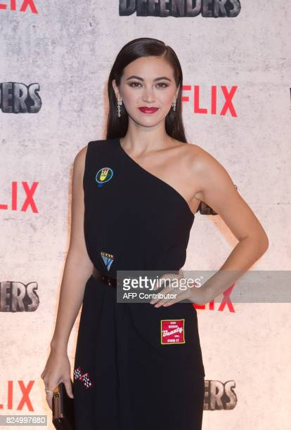 Jessica Henwick arrives for the Netflix premiere of Marvel's 'The Defenders' on July 31 2017 in New York / AFP PHOTO