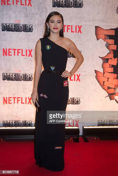 Jessica Henwick arrives for the Netflix premiere of Marvel's 'The Defenders' on July 31 2017 in New York / AFP PHOTO / Bryan R Smith