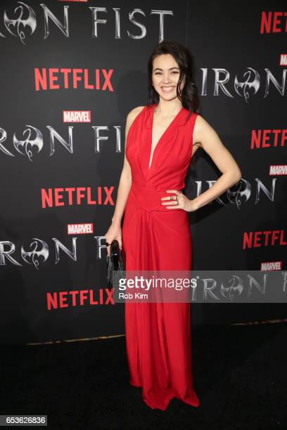 Jessica Henwick attends Marvel's 'Iron Fist' New York Screening at AMC Empire 25 Times Square on March 15 2017 in New York City