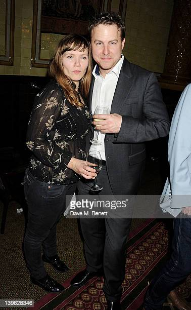 Jessica Hynes and Sam West attend an after party celebrating the Gala Performance of Noel Coward's 'Hay Fever' at the Royal Horseguards Hotel on...