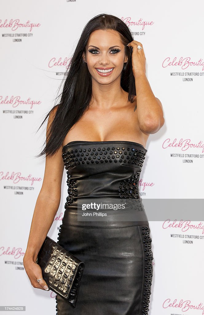 Jessica Jane attends the store launch party at CelebBoutique, Westfield Stratford City on July 25, 2013 in London, England.