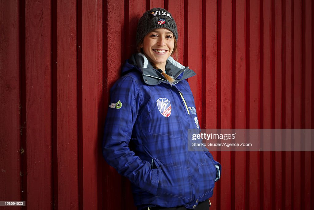 Jessica Jerome of the USA Women's Ski Jumping Team poses on December 15, 2012 in Ramsau, Austria.