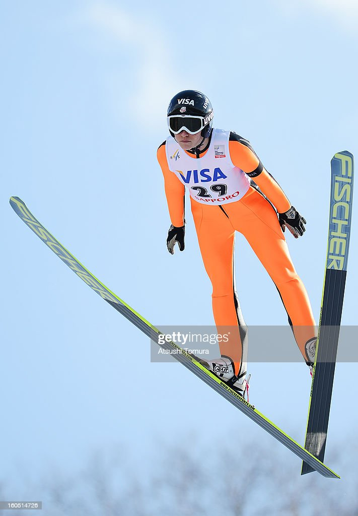 Jessica Jerome of USA in action during day one of the FIS Women's Ski Jumping World Cup at Miyanomori Jump Stadium on February 2, 2013 in Sapporo, Japan.