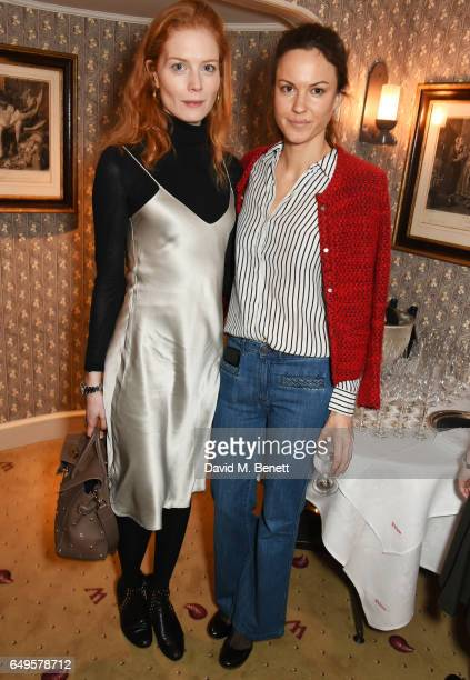 Jessica Joffe and Fran Hickman attend the International Women's Day lunch at Wiltons on March 8 2017 in London United Kingdom