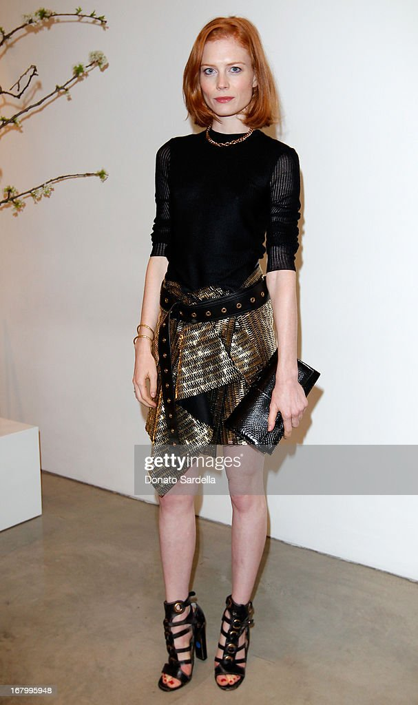 Jessica Joffe attends a cocktail reception hosted by Ferragamo to announce the inaugural opening gala for the Wallis Annenberg Center for the Performing Arts at Gagosian Gallery on May 3, 2013 in Beverly Hills, California.