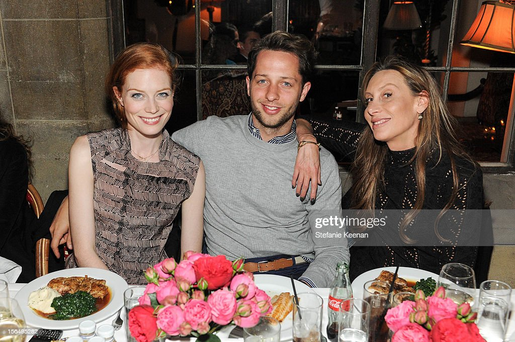 Jessica Joffe, Derek Blasberg and Jacqui Getty attend Juan Carlos Obando Jewelry Collection Launch Dinner at Chateau Marmont on November 15, 2012 in Los Angeles, California.