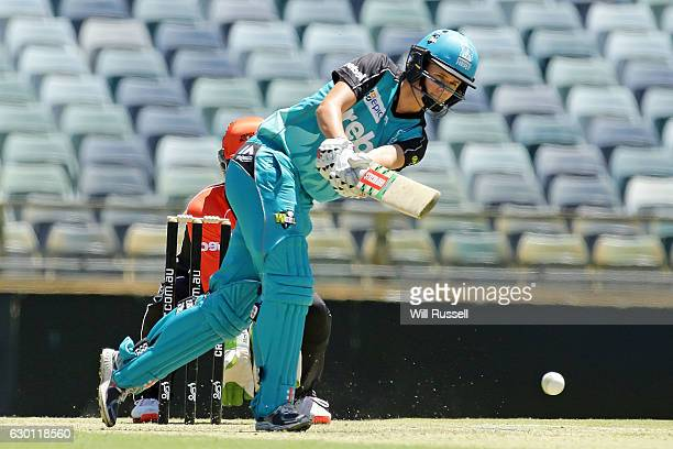 Jessica Jonassen of the Heat bats during the WBBL match between the Brisbane Heat and Perth Scorchers at WACA on December 17 2016 in Perth Australia
