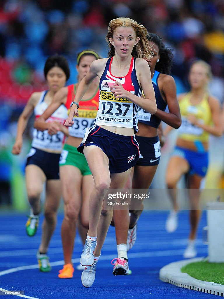 Jessica Judd of Great Britain in action during the Girls 800 metres qualification during day three of the IAAF World Youth Championships at Lille Metropole stadium on July 8, 2011 in Lille, France.