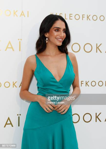 Jessica Kahawaty arrives ahead of the KOOKAI Spring/Summer 17/18 Collection Launch on October 4 2017 in Sydney Australia