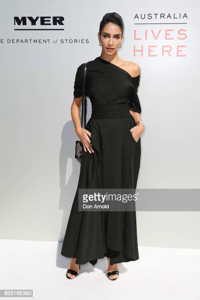 Jessica Kahawaty at the Myer Spring 2017 Fashion Launch on August 17 2017 in Sydney Australia