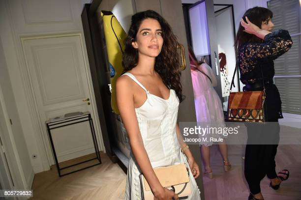Jessica Kahawaty attends Guy Bourdin inaugural exhibition and unveiling of Maison Chloe as part of Paris Fashion Week at Maison Chloe on July 2 2017...