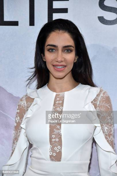 Jessica Kahawaty attends the Elie Saab show as part of the Paris Fashion Week Womenswear Fall/Winter 2017/2018 on March 4 2017 in Paris France