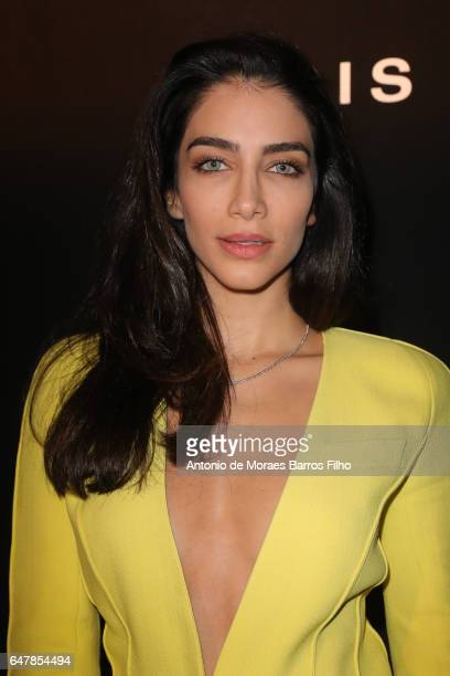 Jessica Kahawaty attends the Mugler show as part of the Paris Fashion Week Womenswear Fall/Winter 2017/2018 on March 4 2017 in Paris France