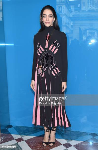 Jessica Kahawaty attends the Valentino show as part of the Paris Fashion Week Womenswear Fall/Winter 2017/2018 on March 5 2017 in Paris France