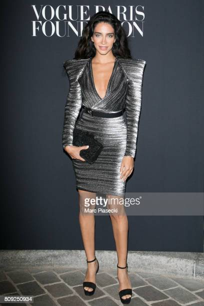 Jessica Kahawaty attends Vogue Foundation Dinner during Paris Fashion Week as part of Haute Couture Fall/Winter 20172018 at Musee Galliera on July 4...