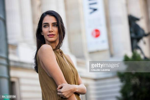 Jessica Kahawaty is seen in the streets of Paris before the Chloe show during Paris Fashion Week Womenswear Fall/Winter 2017/2018 on March 2 2017 in...