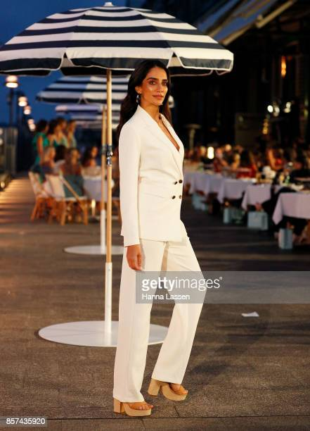 Jessica Kahawaty showcases designs during the KOOKAI Spring/Summer 17/18 Collection Launch on October 4 2017 in Sydney Australia
