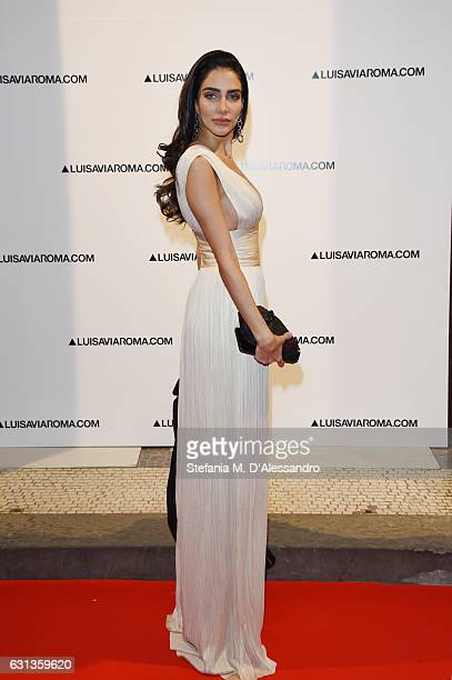 Jessica Kahawaty walks the red carpet of Firenze4ever 14th Edition Party hosted by LuisaViaRoma on January 9 2017 in Florence Italy