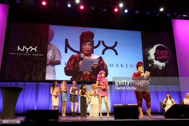Jessica Kalil Victoria Lyn Megan Walter Ashley Quiroz Kimberley Margarita Jordi Dreher Charis Amber Lincoln and Patrick Starrr at the 2017 NYX...
