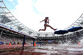 Jessica Kamilos of United States in action during the Womens 3000m Steeplechase on day two of the Muller Anniversary Games at The Stadium Queen...