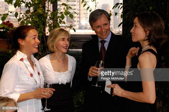 Jessica Karcher Emmanuelle Voisin Patrice Kretz and Sonja Winther attend Stephanie Seymour and Patrice Kretz Celebrate the Chantelle Ad Campaign at...