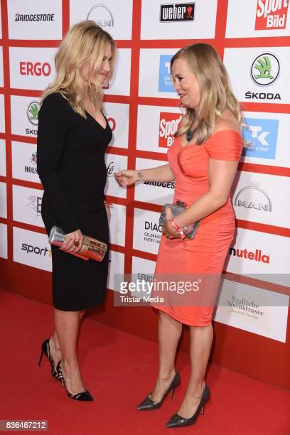 Jessica Kastrop and Regina Halmich attend the Sport Bild Award on August 21 2017 in Hamburg Germany