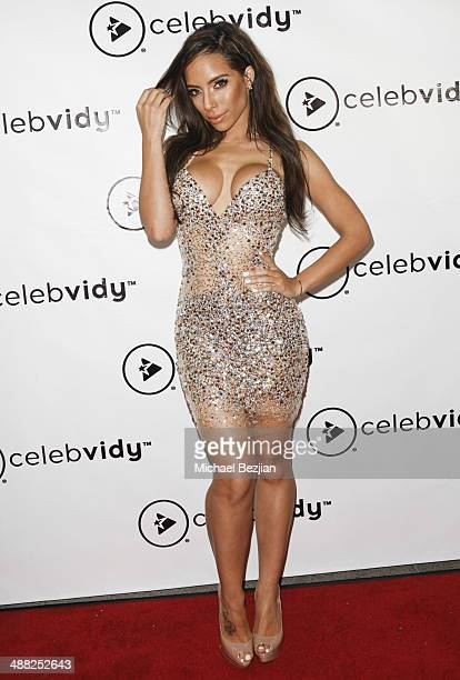 Jessica Killings arrives at the Celebvidy Launch Party at the W Hollywood on May 4 2014 in Hollywood California