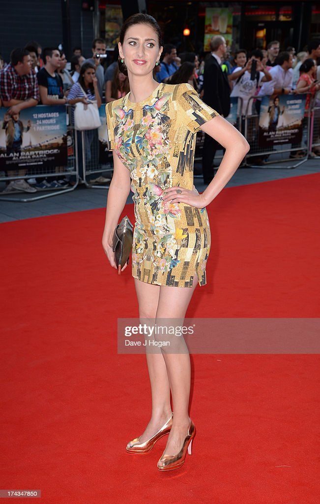 Jessica Knappett attends the London Premiere of 'Alan Partidge: Alpha Papa' at Vue Leicester Square on July 24, 2013 in London, England.