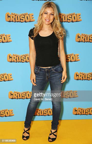 Jessica Knowles attends a VIP screening of 'Robinson Crusoe' at the Vue West End on April 3 2016 in London England