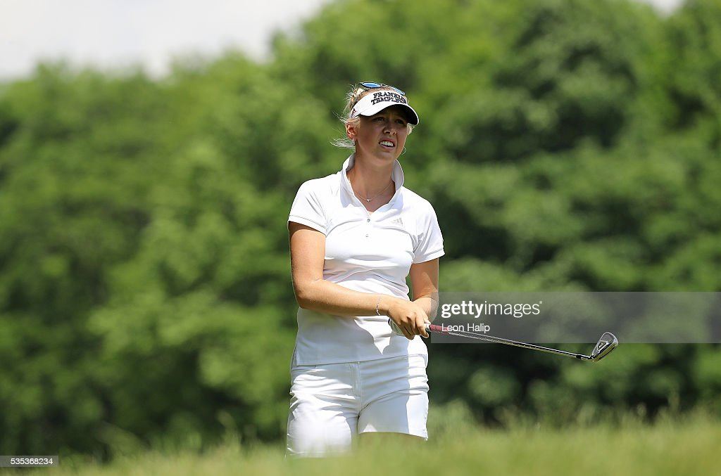 <a gi-track='captionPersonalityLinkClicked' href=/galleries/search?phrase=Jessica+Korda&family=editorial&specificpeople=5410628 ng-click='$event.stopPropagation()'>Jessica Korda</a> from the United States hits her approach shot to the fifth green during the final round of the LPGA Volvik Championship on May 29, 2016 at Travis Pointe Country Club in Ann Arbor, Michigan.