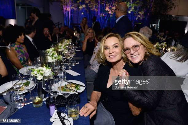 Jessica Lange and Ann Philbin at the Hammer Museum 15th Annual Gala in the Garden with Generous Support from Bottega Veneta on October 14 2017 in Los...
