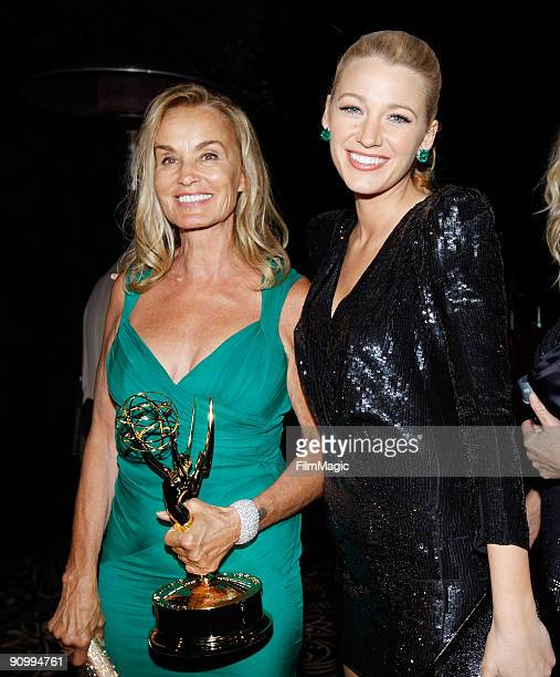 Jessica Lange and Blake Lively attend HBO's Post Emmy Awards Party held at Pacific Design Center on September 20 2009 in West Hollywood California