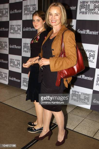 Jessica Lange and daughter Hannah during Closing Night of 40th New York Film Festival 'Talk to Her' US Premiere at Avery Fisher Hall Lincoln Center...
