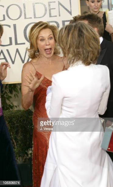 Jessica Lange and Diane Keaton during The 61st Annual Golden Globe Awards Arrivals at The Beverly Hilton in Beverly Hills California United States