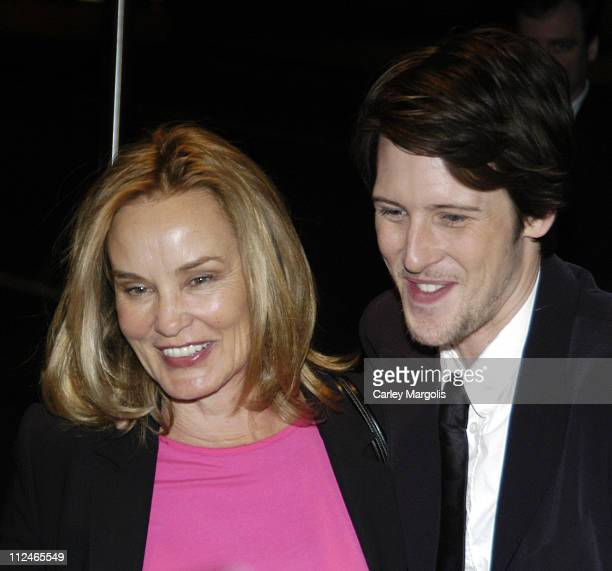 Jessica Lange and Gabriel Mann during 'Don't Come Knocking' New York City Premiere at Director's Guild Theater in New York City New York United States