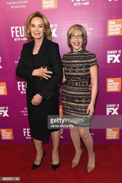 Jessica Lange and Jackie Hoffman attend the 'Feud Bette And Joan' NYC Event at Alice Tully Hall at Lincoln Center on April 18 2017 in New York City