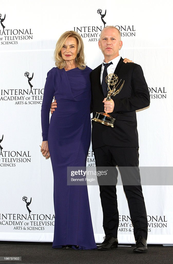 Jessica Lange and Ryan Murphy attend the 40th Annual International Emmy Awards at the Hilton New York on November 19, 2012 in New York City.