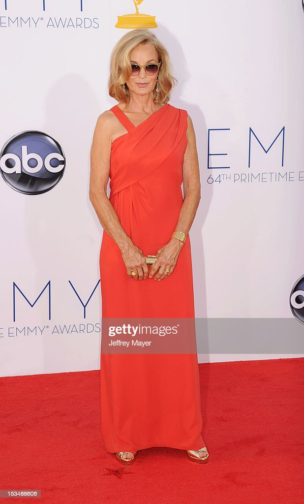Jessica Lange arrives at the 64th Primetime Emmy Awards at Nokia Theatre L.A. Live on September 23, 2012 in Los Angeles, California.