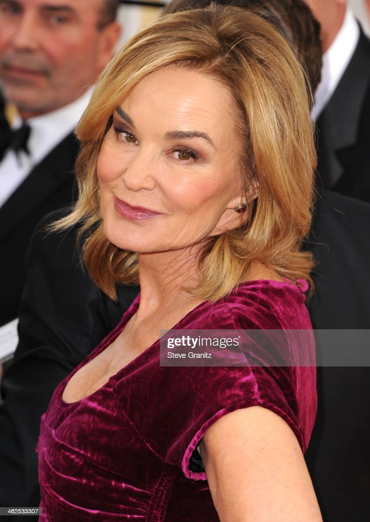 Jessica Lange arrives at the 71st Annual Golden Globe Awards at The Beverly Hilton Hotel on January 12, 2014 in Beverly Hills, California.