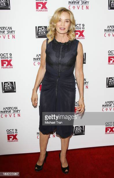 Jessica Lange arrives at the premiere of FX's 'American Horror Story Coven' held at Pacific Design Center on October 5 2013 in West Hollywood...
