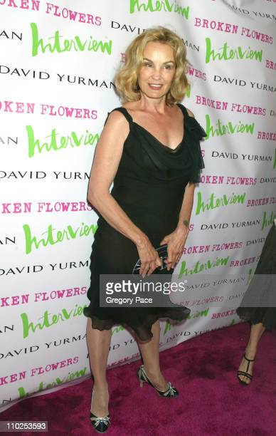 Jessica Lange during 'Broken Flowers' New York City Premiere Arrivals at Chelsea West Cinemas in New York City New York United States