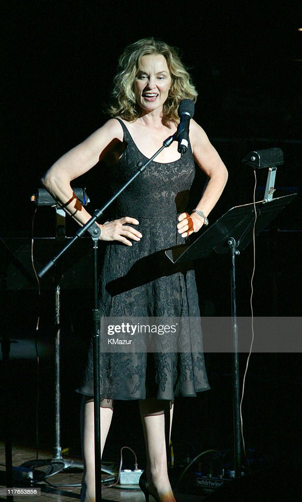 Jessica Lange during The ACLU Freedom Concert and After Party at Avery Fisher Hall in New York City, New York, United States.