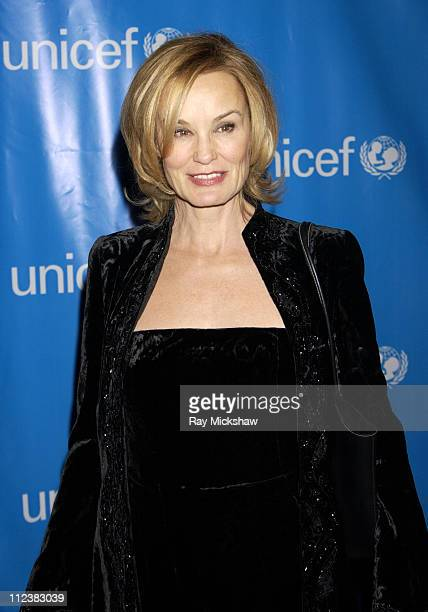 Jessica Lange during UNICEF Goodwill Gala Celebrating 50 Years of Celebrity Goodwill Ambassadors Red Carpet at The Beverly Hilton in Beverly Hills...