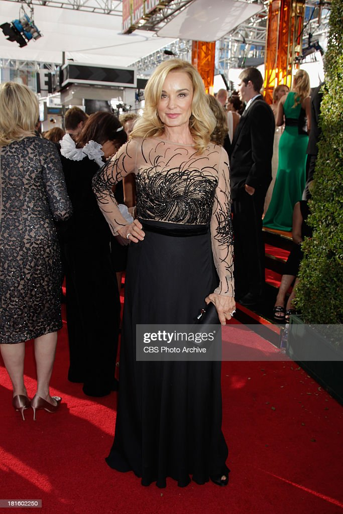 Jessica Lange from American Horror Story on the red carpet for the 65th Primetime Emmy Awards which will be broadcast live across the country 8:00-11:00 PM ET/ 5:00-8:00 PM PT from NOKIA Theater L.A. LIVE in Los Angeles, Calif., on Sunday, Sept. 22 on the CBS Television Network.
