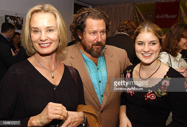 Jessica Lange Julian Schnabel and Hannah during Closing Night of 40th New York Film Festival 'Talk to Her' US Premiere at Avery Fisher Hall Lincoln...
