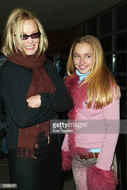 Jessica Lange with costar Hayden Panettiere arriving at the 'Normal' screening during the 2003 Sundance Film Festival in Park City Utah January 21...